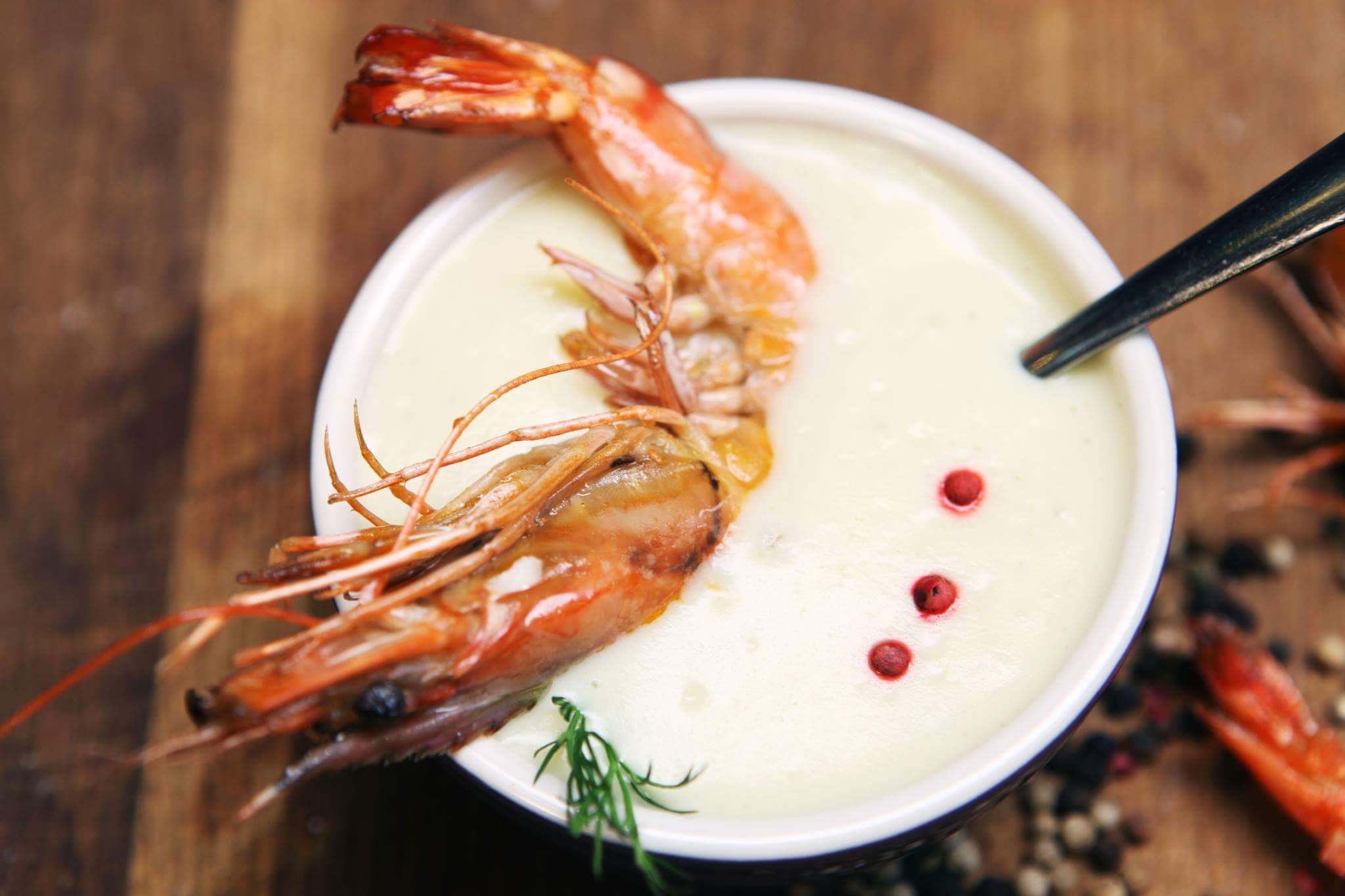 Рецепт Крем-суп из цветной капусты с креветками