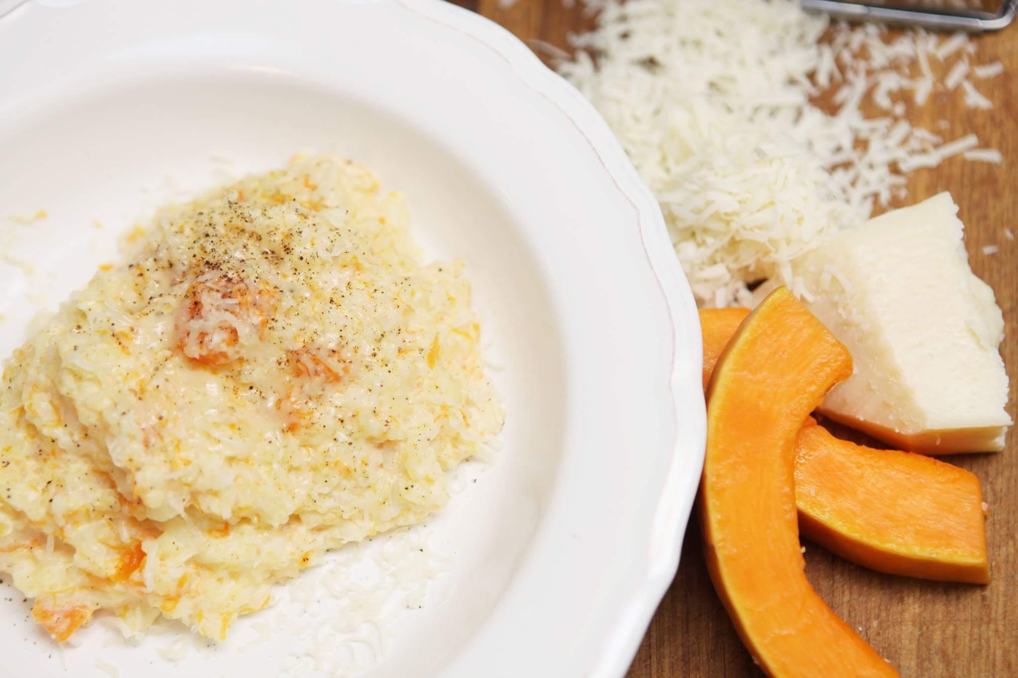 Рецепт Тыквенная каша с рисом, пшеном и пармезаном